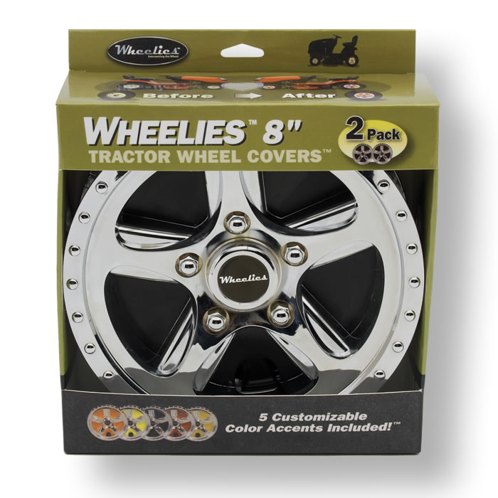 Lawn Mower Wheel Covers Chrome : Wheelies tractor wheel covers at good vibrations lawn